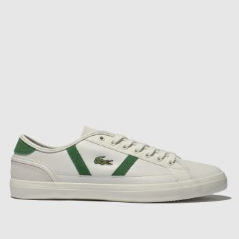 Lacoste White & Green Sideline Mens Trainers