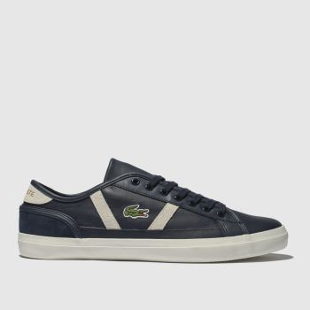 Lacoste Navy & White Sideline Mens Trainers