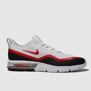 Nike White & Red Air Max Sequent 4.5 Mens Trainers