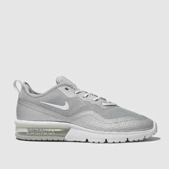 Nike Light Grey Air Max Sequent 4.5 c2namevalue::Mens Trainers