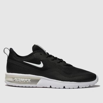 551f648cf15fa Nike Black   White Air Max Sequent 4.5 Mens Trainers