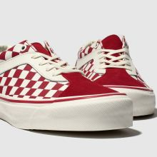 411250d6e4a3 mens white & red vans bold ni checkerboard trainers | schuh