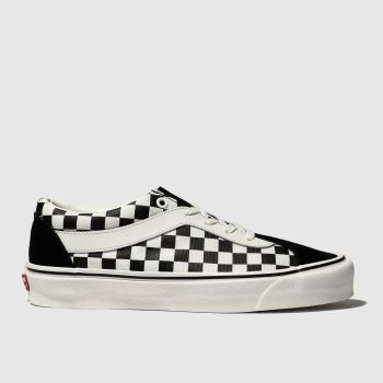 Vans Black & White Bold Ni Checkerboard Mens Trainers