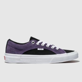 Vans Black & Purple Lampin Mens Trainers