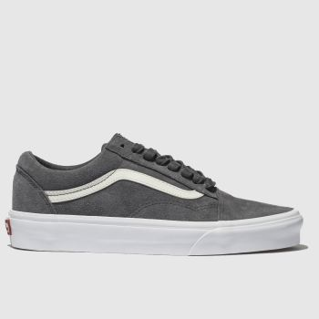 5fff7a7b5df Vans Dark Grey Old Skool Mens Trainers