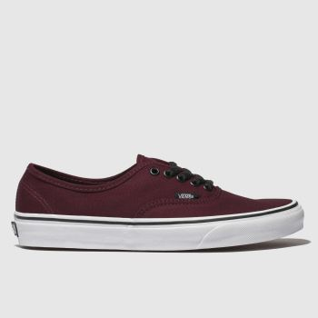 Vans Burgundy Authentic Mens Trainers#