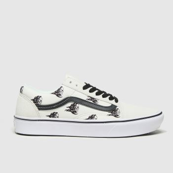 Vans White & Black Comfycush Old Skool Mens Trainers