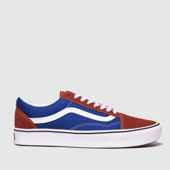 vans navy & red comfycush old skool trainers