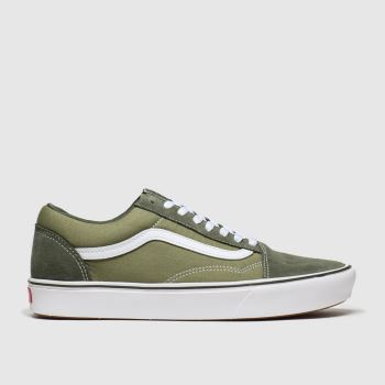 Vans Khaki Comfycush Old Skool Mens Trainers