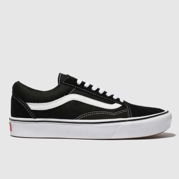 Vans Black & White Comfycush Old Skool Mens Trainers#