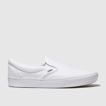 Vans White Comfycush Slip-On Mens Trainers