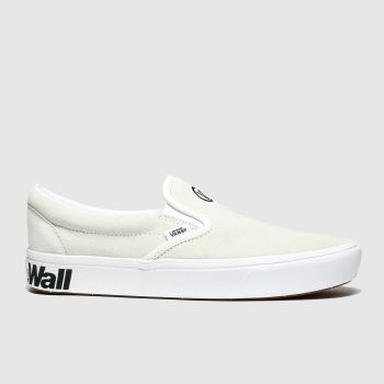 Vans White & Black Comfycush Slip-On Mens Trainers