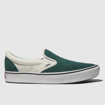 VANS DARK GREEN COMFYCUSH SLIP-ON TRAINERS