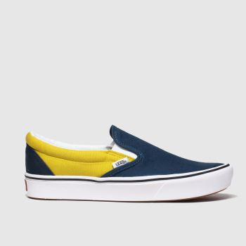 Vans Navy & White Comfycush Slip-on Mens Trainers