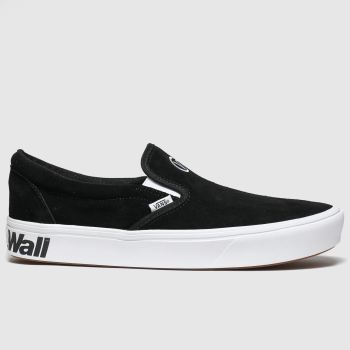 vans black & white comfycush slip-on trainers