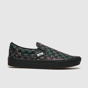 Vans Black & Green Comfycush Slip-on Trainers