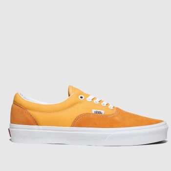 Vans White & Orange Era Mens Trainers