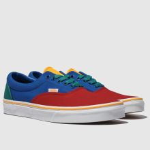 4726d215380 mens blue   red vans era primary trainers