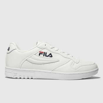 FILA WHITE FX100 LOW TRAINERS
