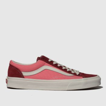 Vans Pink Style 36 Mens Trainers