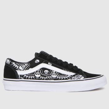 Vans Black & White Style 36 Bandana Mens Trainers