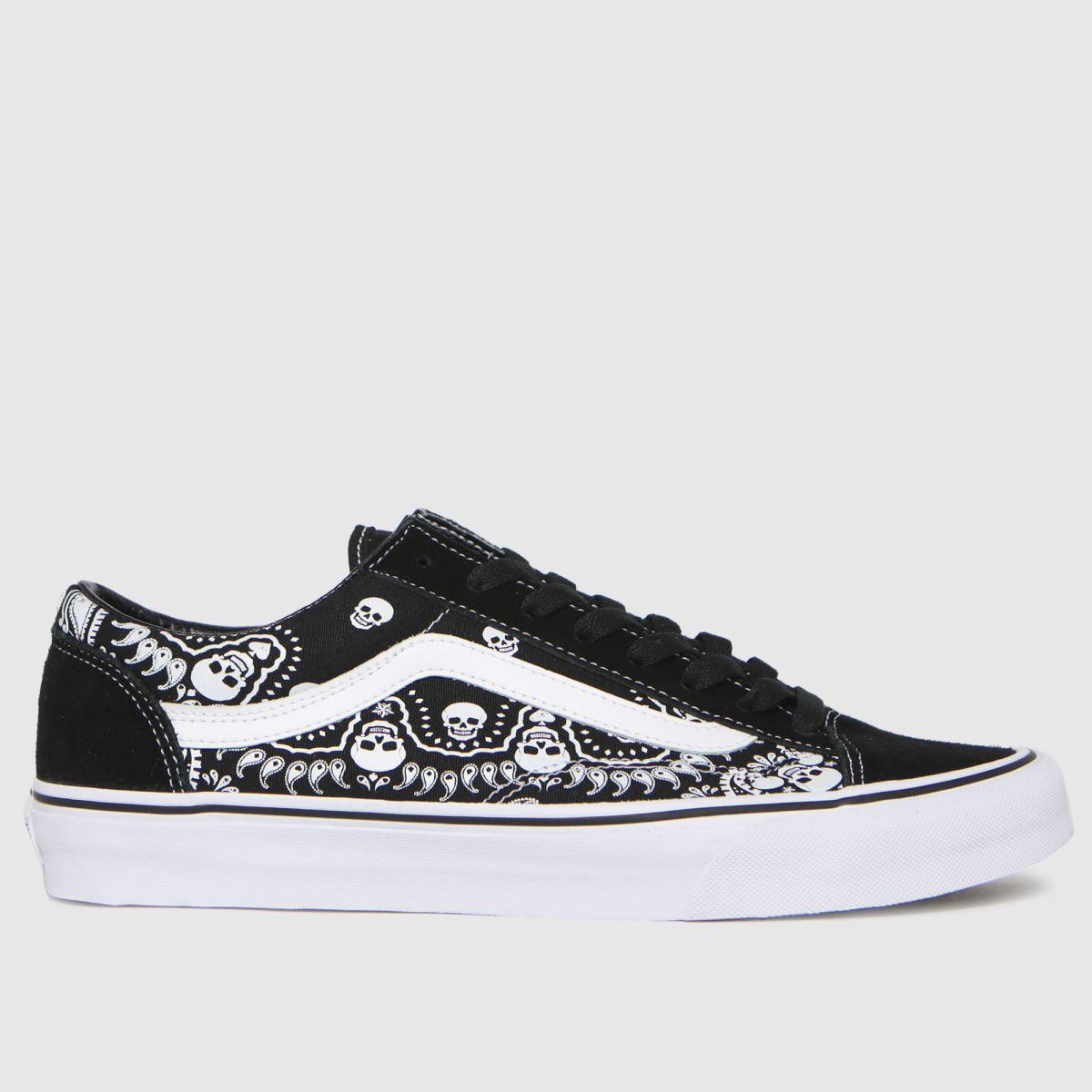Vans Black & White Style 36 Bandana Trainers