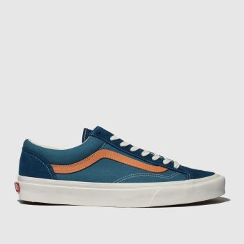 Vans Blue & Orange Style 36 Mens Trainers