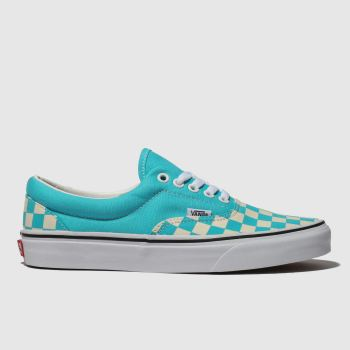 Vans White & Blue Era Checkerboard Mens Trainers