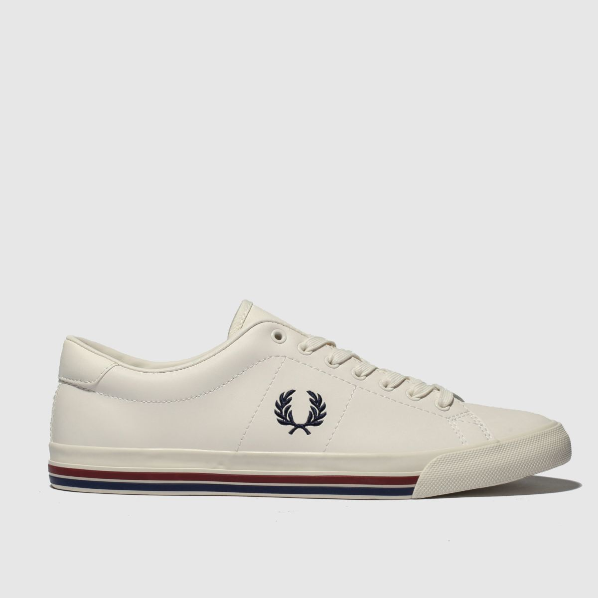 Fred Perry White Underspin Leather Trainers