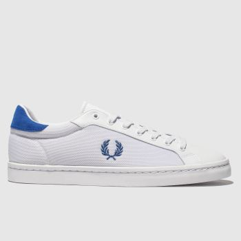 Fred Perry White & Navy Lawn Leather Mens Trainers