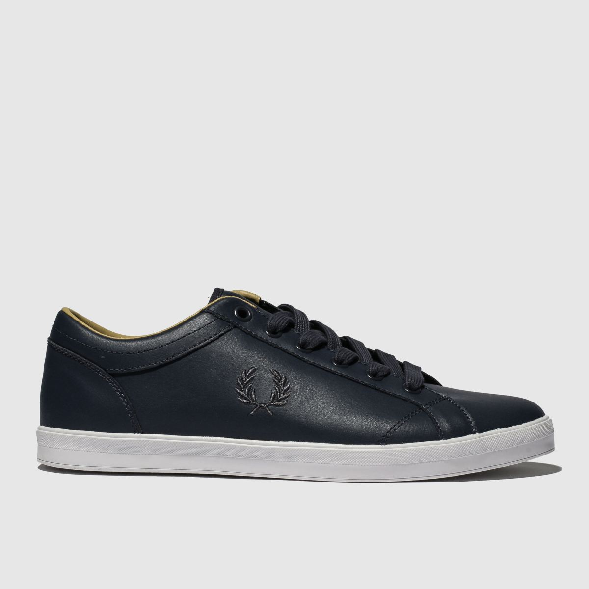 Fred Perry Navy Baseline Leather Trainers