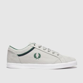Fred Perry Light Grey Baseline Mens Trainers
