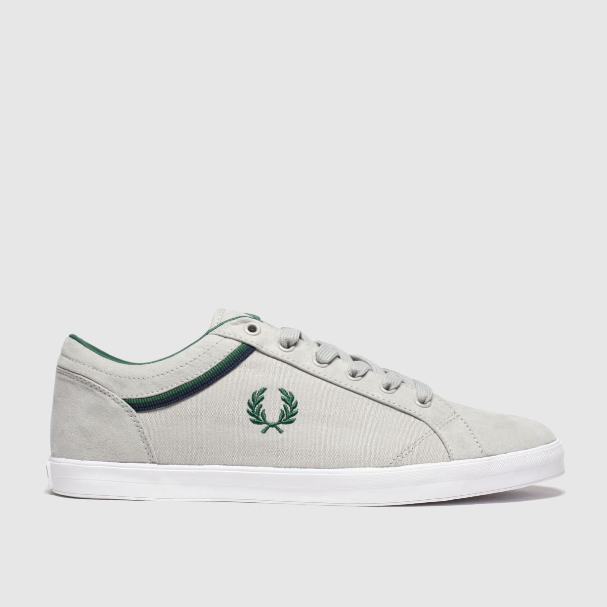 Fred Perry Light Grey Baseline Trainers