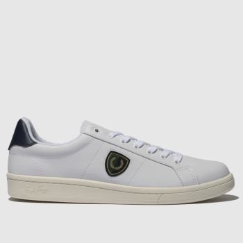 Fred Perry White B721 Shield Badge Mens Trainers