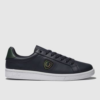 Fred Perry Navy B721 Shield Badge Mens Trainers