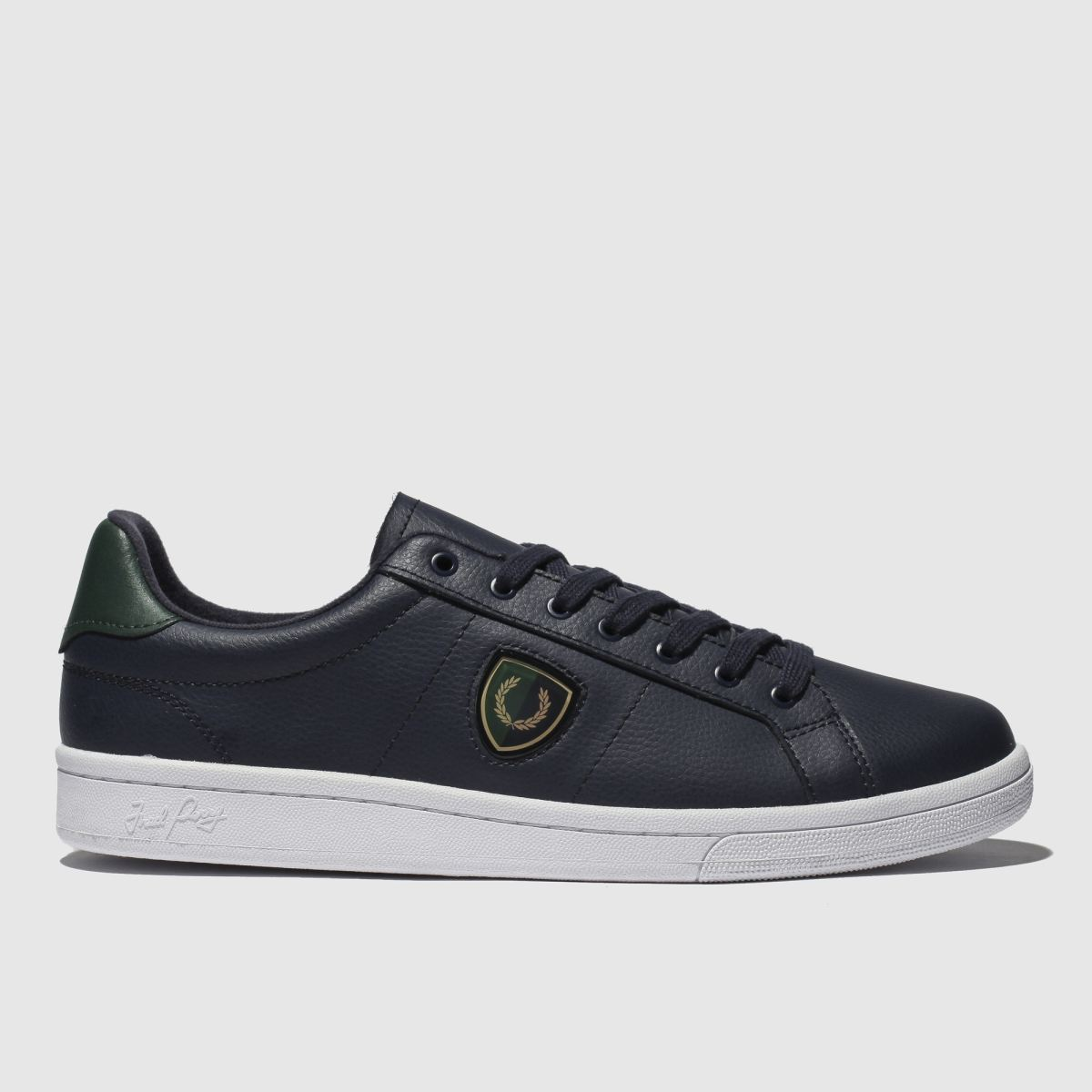 Fred Perry Navy B721 Shield Badge Trainers