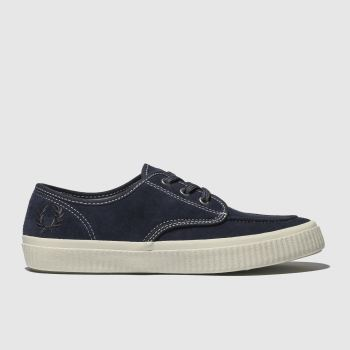Fred Perry Navy & Stone Ealing Low Mens Trainers