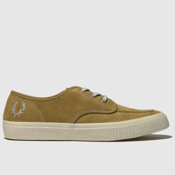 Fred Perry Brown & Stone Ealing Low Mens Trainers