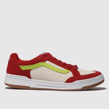 Vans White & Red Highland Mens Trainers