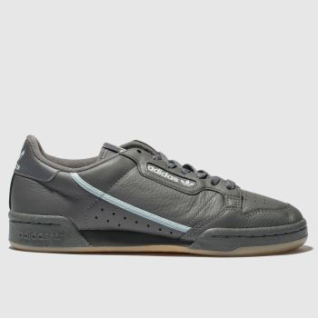 Adidas Dark Grey Continental 80 Mens Trainers