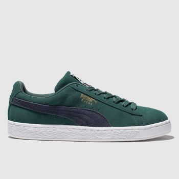 Puma Dark Green Suede Classic Mens Trainers