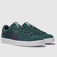 big sale 9b062 2122c puma dark green suede classic trainers