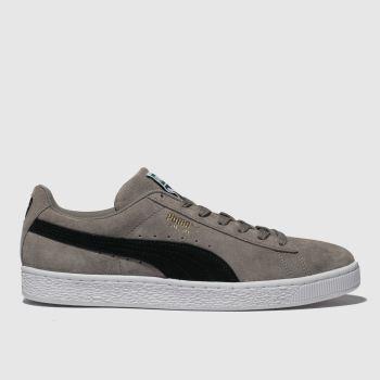 Puma Grey & Black Suede Classic Mens Trainers