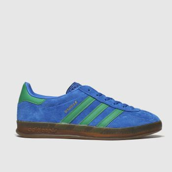 adidas navy & green gazelle indoor trainers