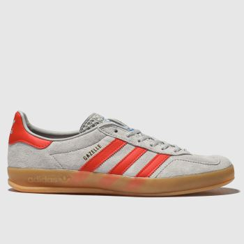 Adidas Grey Gazelle Indoor Mens Trainers