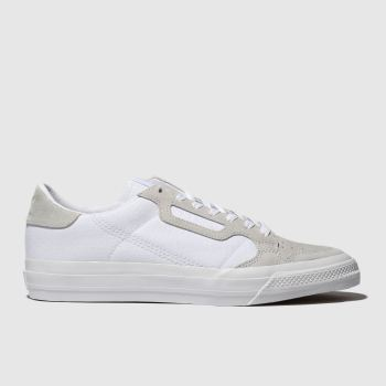 Adidas White Continental Vulc Mens Trainers