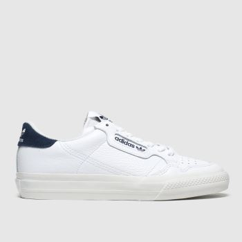 Adidas White & Navy Continental Vulc Mens Trainers