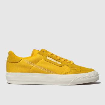 Adidas Yellow Continental Vulc Mens Trainers