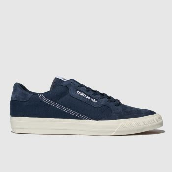 adidas navy continental vulc trainers