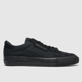 Adidas Black Continental Vulc c2namevalue::Mens Trainers